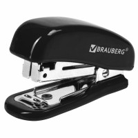"""Brauberg 222544 Степлер №10 МИНИ BRAUBERG """"Classic"""", до 12 листов, с антистеплером, черный, 222544"""