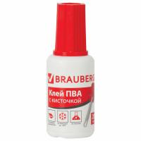 Brauberg 222875 Клей ПВА BRAUBERG, 20 г, с кисточкой, морозостойкий, 222875