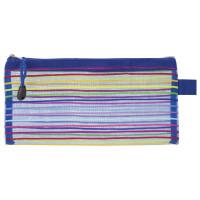 "Brauberg 224048 Папка-конверт на молнии МАЛОГО ФОРМАТА (255х130 мм), сетчатая ткань, BRAUBERG ""Stripes"", 224048"