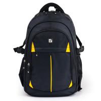 Brauberg 224385 Рюкзак BRAUBERG TITANIUM для старшеклассников/студентов/молодежи, желтые вставки, 45х28х18 см, 224385