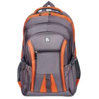 "Brauberg 224448 Рюкзак BRAUBERG ""SpeedWay 2"", 25 л, размер 46х32х19 см, ткань, серо-оранжевый, 224448"