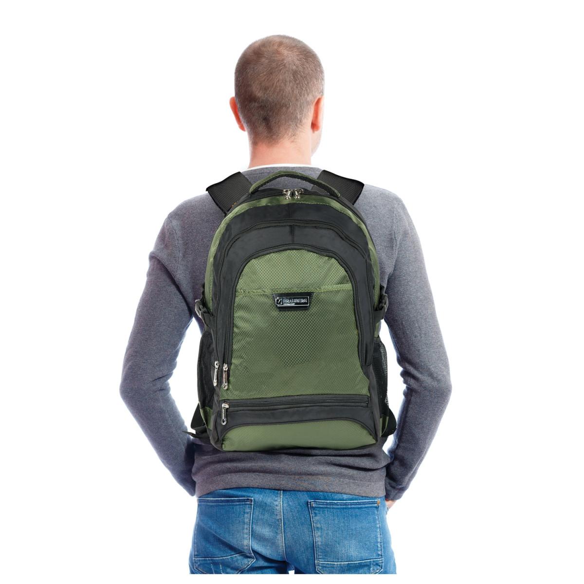 """Рюкзак для школы и офиса BRAUBERG """"StreetRacer 1"""", 30 л, размер 48х34х18 см, ткань, черно-зеленый, 224449 (арт. 224449)"""
