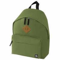 Brauberg 225382 Рюкзак BRAUBERG, универсальный, сити-формат, один тон, зеленый, 20 литров, 41х32х14 см, 225382