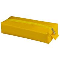 "Brauberg 226718 Пенал-косметичка BRAUBERG под искусственную кожу, ""Блеск"", желтый, 20х6х4 см, 226718"