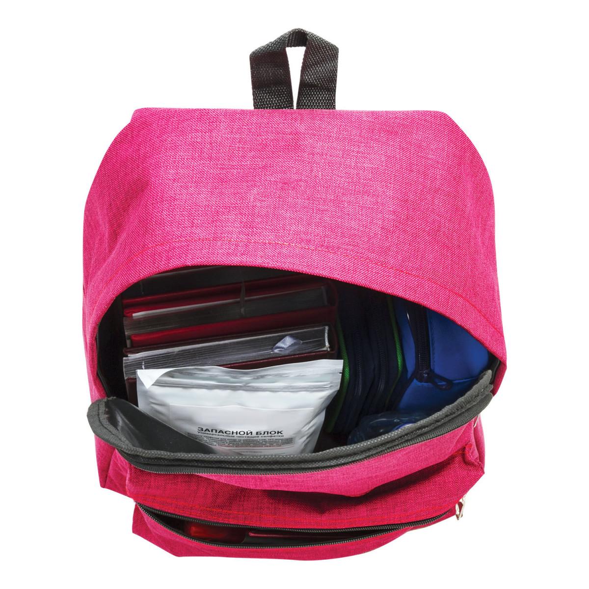 Рюкзак BRAUBERG молодежный, сити-формат, влагозащитный, бордовый, 40х30х13 см, 227103 (арт. 227103)