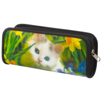 "Brauberg 227310 Пенал-косметичка BRAUBERG, с эффектом 3D, пластик, ""Белый котенок"", 22х10х5 см, 227310"