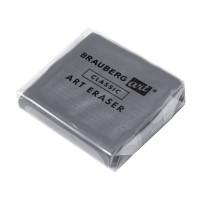 "Brauberg 228064 Ластик-клячка BRAUBERG ART ""CLASSIC"" 40х36х10 мм, супермягкий, серый, 228064"