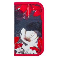 Brauberg 228098 Пенал BRAUBERG, 2 отделения, металлизированный картон, конгрев, 19х11 см, Цветы, 228098