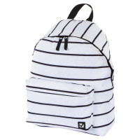 Brauberg 228846 Рюкзак BRAUBERG, универсальный, сити-формат, белый в полоску, 20 литров, 41х32х14 см, 228846