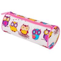 "Brauberg 229007 Пенал-тубус BRAUBERG, с эффектом Soft Touch, мягкий, ""Owls"", 22х8 см, 229007"