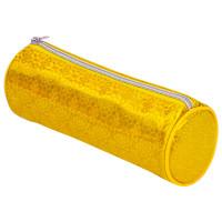 "Brauberg 229016 Пенал-тубус BRAUBERG, мягкий, ""Glitter Gold"", 20х7х7 см, 229016"