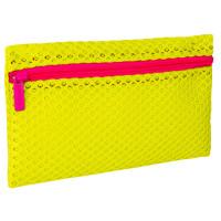 """Brauberg 229026 Пенал-косметичка BRAUBERG, сетка, """"Neon"""", желтый, 23х14 см, 229026"""