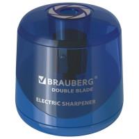 Brauberg 229605 Точилка электрическая BRAUBERG DOUBLE BLADE, двойное лезвие, питание от 2 батареек AA, 229605