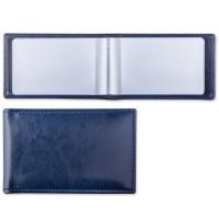 """Brauberg 232060 Визитница однорядная BRAUBERG """"Imperial"""", на 20 визиток, под гладкую кожу, темно-синяя, 232060"""