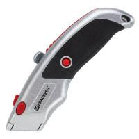 """Brauberg 235404 Нож универсальный мощный BRAUBERG """"Professional"""", 6 лезвий в комплекте, фиксатор, металл, 235404"""