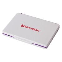 Brauberg 236868 Штемпельная подушка BRAUBERG, 120х90 мм (рабочая поверхность 110х70 мм), фиолетовая краска, 236868