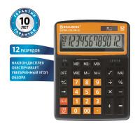 Brauberg 250478 Калькулятор настольный BRAUBERG EXTRA COLOR-12-BKRG (206x155 мм), 12 разрядов, двойное питание, ЧЕРНО-ОРАНЖЕВЫЙ, 250478