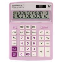 Brauberg 250489 Калькулятор настольный BRAUBERG EXTRA PASTEL-12-PR (206x155 мм), 12 разрядов, двойное питание, СИРЕНЕВЫЙ, 250489