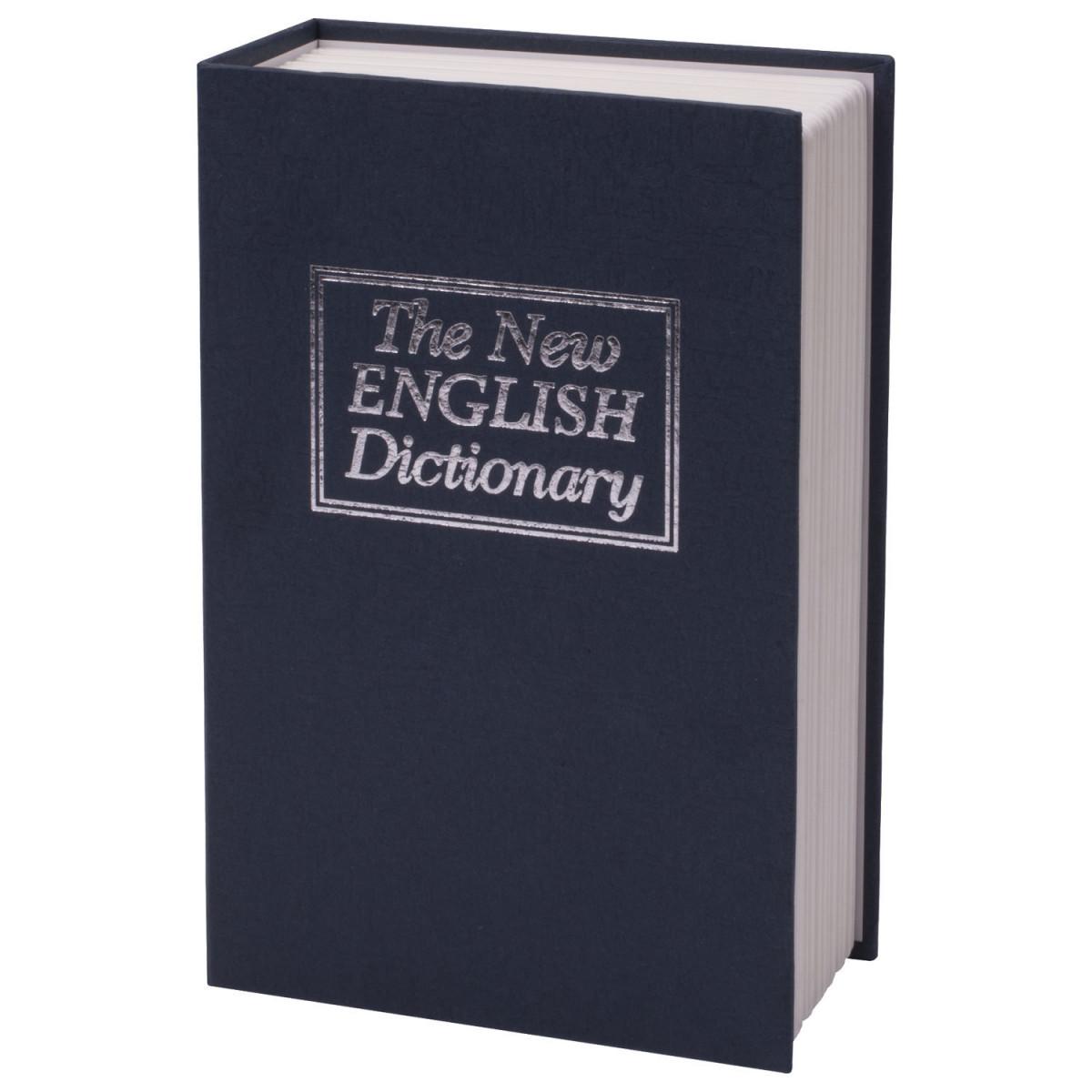 """Сейф-книга BRAUBERG """"Английский словарь"""", 55х155х235 мм, ключевой замок, темно-синий, 290459 (арт. 290459)"""