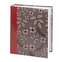 """Brauberg 391121 Фотоальбом BRAUBERG на 200 фото 10х15 см, твердая обложка, """"Флора"""", серый с красным, 391121"""