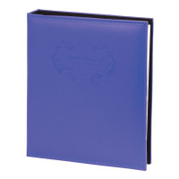 Brauberg 391124 Фотоальбом BRAUBERG 20 магнитных листов, 23х28 см, под гладкую кожу, на кольцах, синий, 391124
