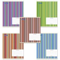 Brauberg 401863 Тетрадь 24 л. BRAUBERG, клетка, обложка картон, ПОЛОСКИ, 401863 (упаковка 5 шт)
