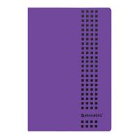 """Brauberg 403402 Тетрадь А4, 40 листов, BRAUBERG """"Metropolis"""", скоба, клетка, обложка пластик, ФИОЛЕТОВЫЙ, 403402"""