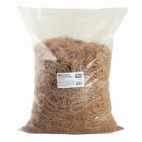Brauberg 440100 Резинки банковские универсальные диаметром 60 мм, BRAUBERG 10 кг, натуральный цвет, натуральный каучук, 440100