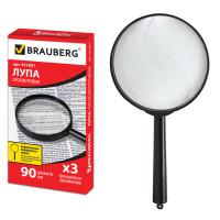 Brauberg 451801 Лупа просмотровая BRAUBERG, диаметр 90 мм, увеличение 3, 451801