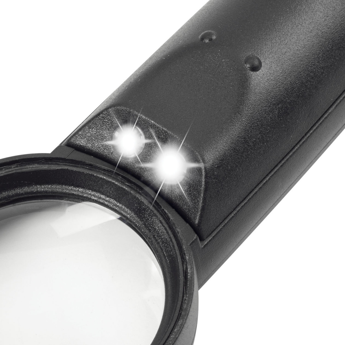 Лупа просмотровая BRAUBERG, С ПОДСВЕТКОЙ, диаметр 37 мм, увеличение 8, корпус черный, 454127 (арт. 454127)