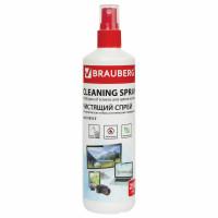 Brauberg 510117 Чистящая жидкость-спрей BRAUBERG для экранов всех типов и оптики, универсальная, 250 мл, 510117