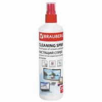 Brauberg 510120 Чистящая жидкость-спрей BRAUBERG для LCD (ЖК)-мониторов, оптики и стекол, 250 мл, 510120