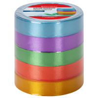 Brauberg 591504 Лента атласная ширина 20 мм, набор 5 цветов по 23 м, BRAUBERG, 591504