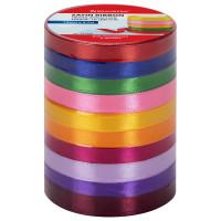 Brauberg 591506 Лента атласная ширина 10 мм, набор 10 цветов по 4,5 м, BRAUBERG, 591506