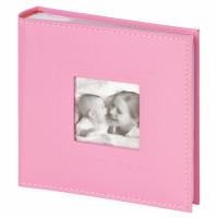 "Brauberg  Фотоальбом BRAUBERG ""Cute Baby"" на 200 фото 10х15 см, под кожу, бумажные страницы, бокс, розовый, 391141"