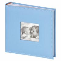 "Brauberg  Фотоальбом BRAUBERG ""Cute Baby"" на 200 фото 10х15 см, под кожу, бумажные страницы, бокс, синий, 391142"