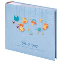 """Brauberg  Фотоальбом BRAUBERG """"Baby Boy"""" на 200 фото 10х15 см, твердая обложка, бумажная страница, бокс, голубой, 391144"""