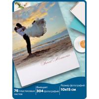 """Brauberg  Фотоальбом BRAUBERG """"Влюбленные у моря"""" на 304 фото 10х15см, твердая обложка, термосклейка, 391156"""