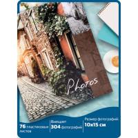 """Brauberg  Фотоальбом BRAUBERG """"Итальянские улочки"""" на 304 фото 10х15 м, твердая обложка, термосклейка, 391167"""
