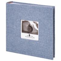 """Brauberg  Фотоальбом BRAUBERG """"Джинс"""" на 200 фото 10х15 см, ткань, бумажные страницы, переплет, бокс, 391173"""