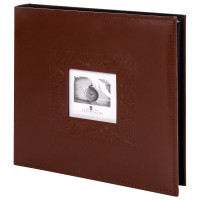 "Brauberg  Фотоальбом BRAUBERG ""Smooth brown"" на 500 фото 10х15 см, под гладкую кожу, коричневый, 391177"