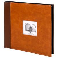 "Brauberg  Фотоальбом BRAUBERG ""Camel"" на 500 фото 10х15 см, под гладкую кожу, коричневый, 391178"