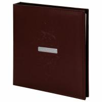 """Brauberg  Фотоальбом BRAUBERG """"Alpha"""" 20 магнитных листов, 23х28 см, под гладкую кожу, коричневый, 391179"""