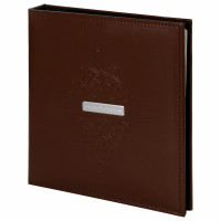 """Brauberg  Фотоальбом BRAUBERG """"Beta"""" 20 магнитных листов, 23х28 см, под гладкую кожу, коричневый, 391180"""