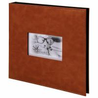 """Brauberg  Фотоальбом BRAUBERG """"Premium Brown"""" 20 магнитных листов 30х32 см, под кожу, коричневый, 391185"""
