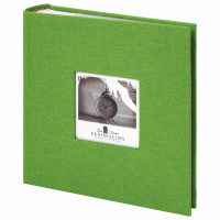 "Brauberg  Фотоальбом BRAUBERG ""Лайм"" на 200 фото 10х15 см, ткань, зеленый, 391189"