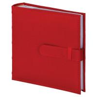 Brauberg  Фотоальбом BRAUBERG на 200 фото 10х15 см, под кожу, бумажные страницы, бокс, красный, 391193