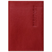 "Brauberg  Обложка для паспорта натуральная кожа галант, ""PASSPORT"", красная, BRAUBERG, 237178"