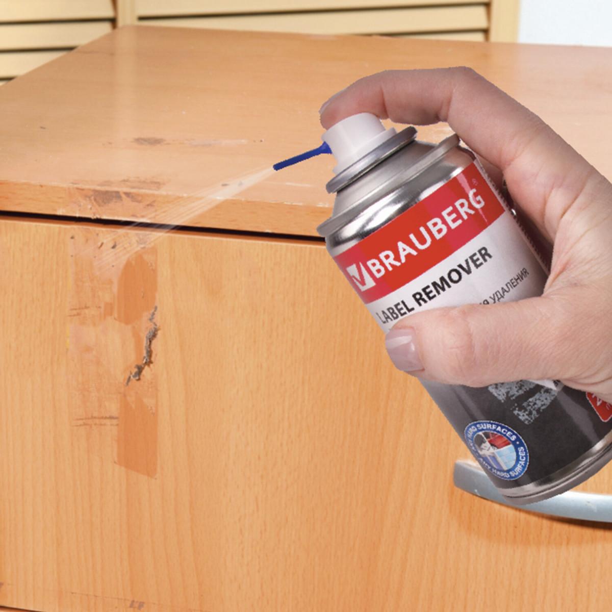 Антискотч спрей для удаления этикеток, следов клея и липких лент, BRAUBERG MAX, 210 мл, 607163