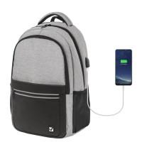 Brauberg  Рюкзак BRAUBERG URBAN универсальный, с отделением для ноутбука, USB-порт, Detroit, серый, 46х30х16 см, 229894